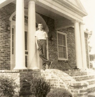 This is a photo from the Park family photo album of their home. Standing out front is a young Sam Hugh Park. Photo obtained from http://blindragebook.blogspot.com