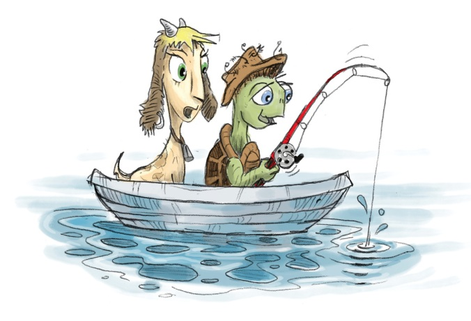 gertrude-and-toby-fishing-in-a-boat